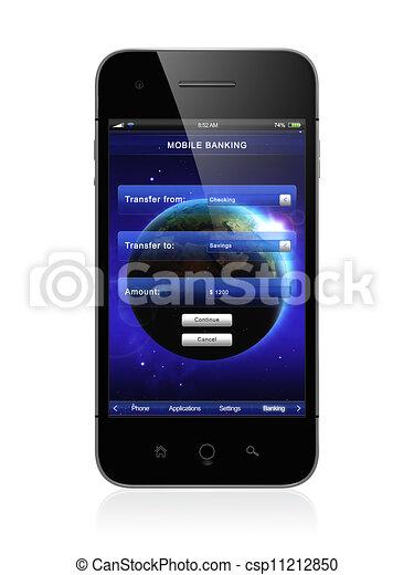 Mobile banking - csp11212850