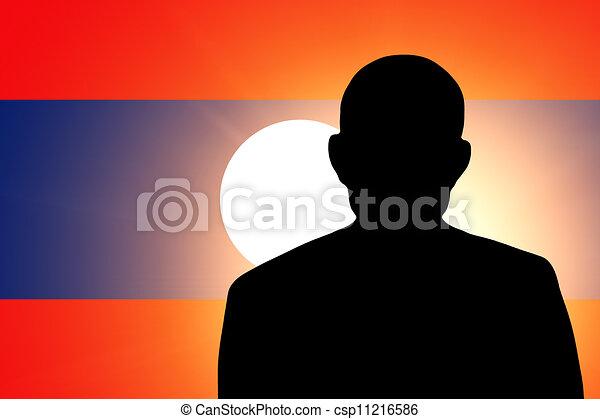 The Laotian flag - csp11216586