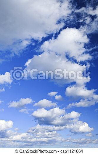Blue sky with white clouds - csp1121664