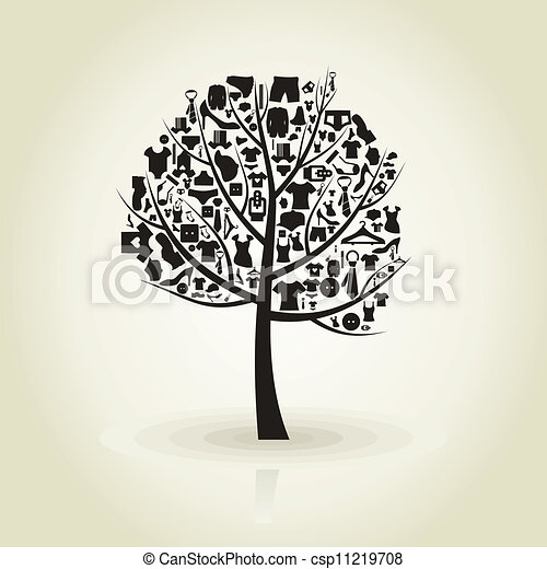 tree clothes csp11219708 - Clothes Tree