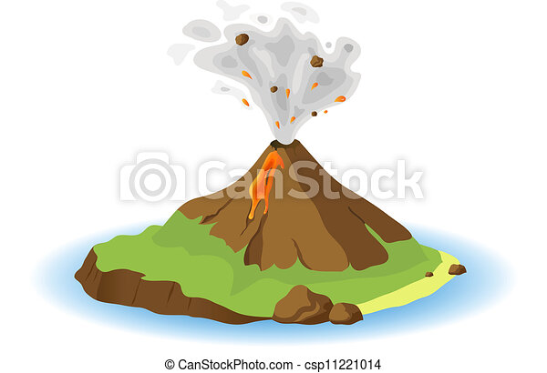 Volcano Illustrations and Clip Art. 3,629 Volcano royalty free ...