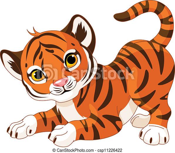 Playful tiger cub  - csp11226422