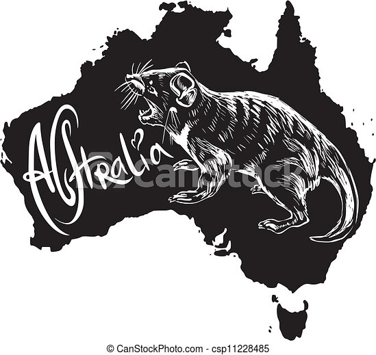 Vector of Tasmanian devil as Australian symbol - Tasmanian devil ...