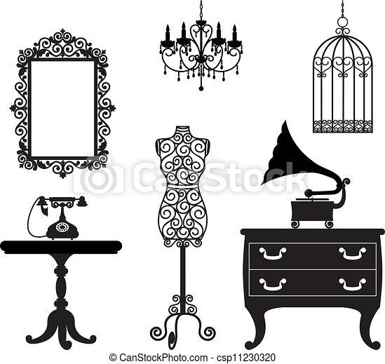 Vector Illustration Of Antique Furniture Csp11230320