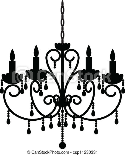 Vectors Of Antique Chandelier Silhouette Of Antique