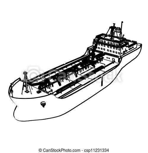 大, 油轮, 船 - csp11231334