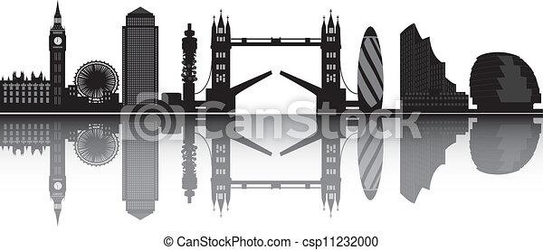 london skyline - csp11232000