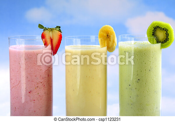 Assorted fruit smoothies - csp1123231