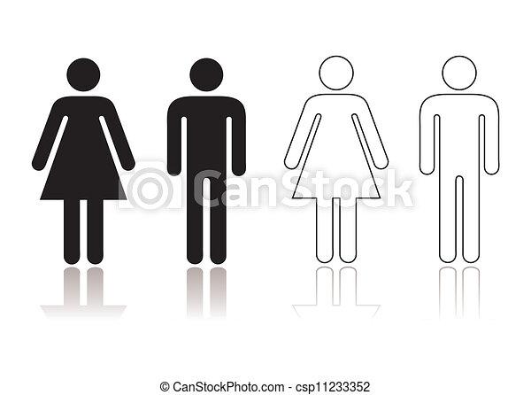 Restroom Symbols Vector Restroom Symbol Clipart Vector