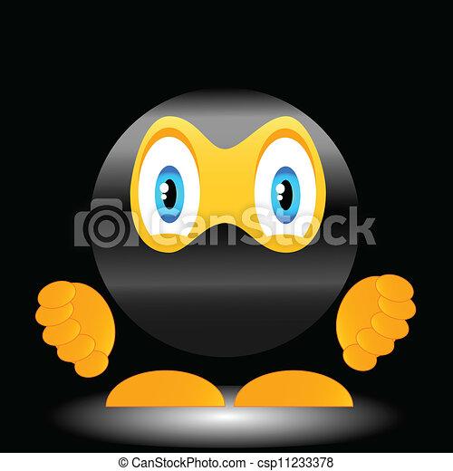微笑, Ninja - csp11233378 独特, 微笑, マスク, 類似した, Ninja
