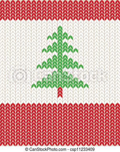 Knitting Pattern Generator Graphics : Vector Clipart of knitting pattern - Illustration of Christmas knitting... cs...