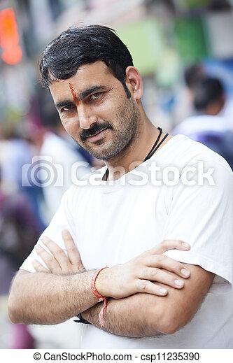 Young adult indian man - csp11235390