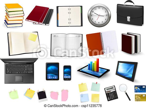 Ilustraciones vectoriales de suministros empresa for Suministros de papeleria para oficina