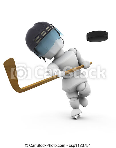 joueur,  hockey, glace - csp1123754