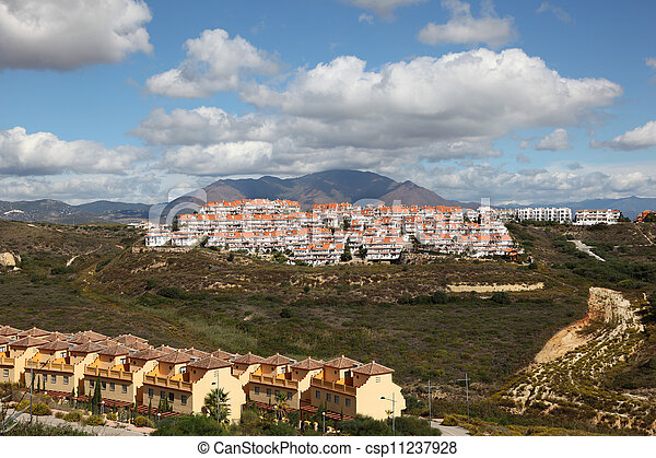 Residential buildings on the Costa del Sol, Andalusia Spain - csp11237928