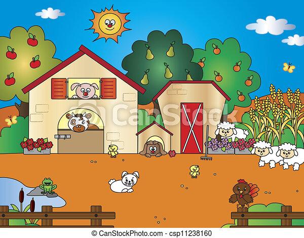 Archivio illustrazioni di fattoria cartone for Piani di fattoria personalizzati