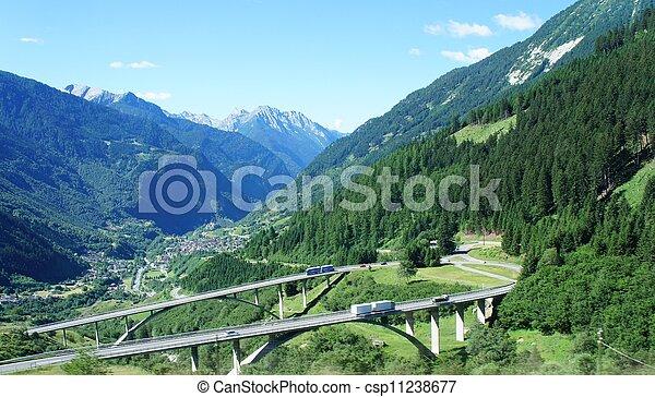 Swiss bridges - csp11238677