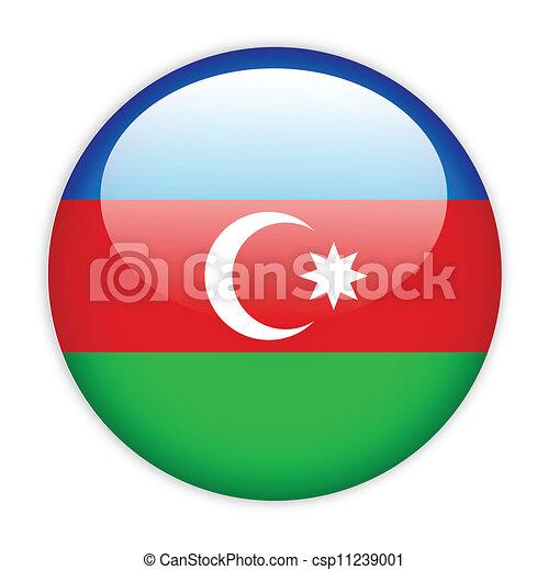 Azerbaijan flag button - csp11239001