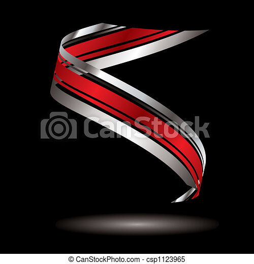 logo swirl silver - csp1123965
