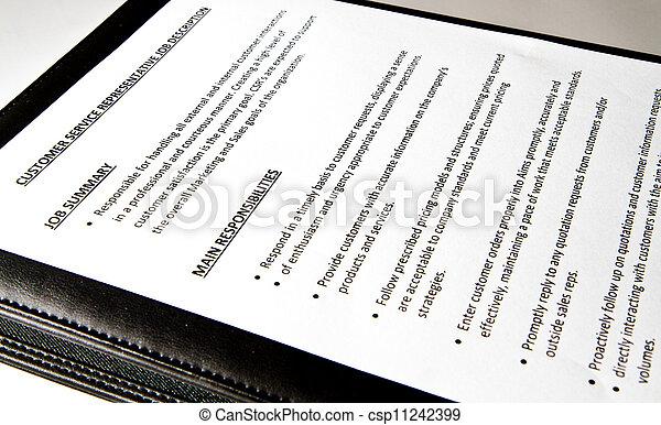 Job Description document