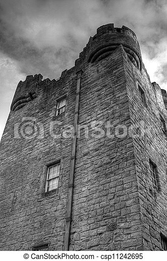 Alloa Tower, Black and White - csp11242695