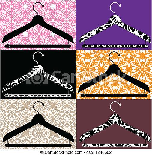 Kleiderständer clipart  Vektor Clipart von kleiderbügel, abbildung, kleidung ...