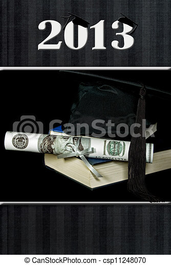 2013 Graduation with cash diploma - csp11248070