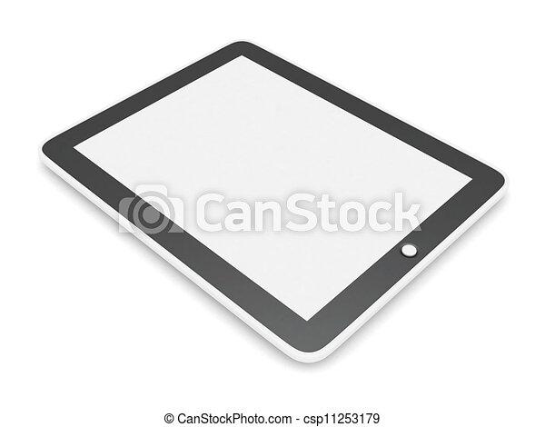 illustrations de nouveau tablette pc tablette informatique isol sur csp11253179. Black Bedroom Furniture Sets. Home Design Ideas