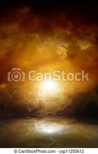 Dramatic moody sky - csp11255612