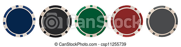 Various gambling chips - csp11255739