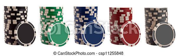 Various gambling chips - csp11255848