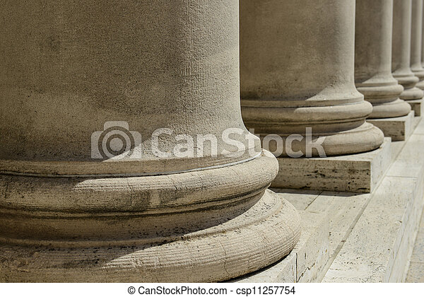 Pillars of Law and Justice - csp11257754