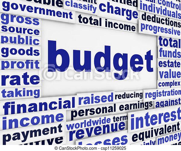 Clip Art Of Budget Financial Poster Concept Business Plan