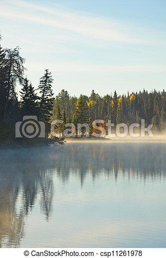 autunno, lago - csp11261978