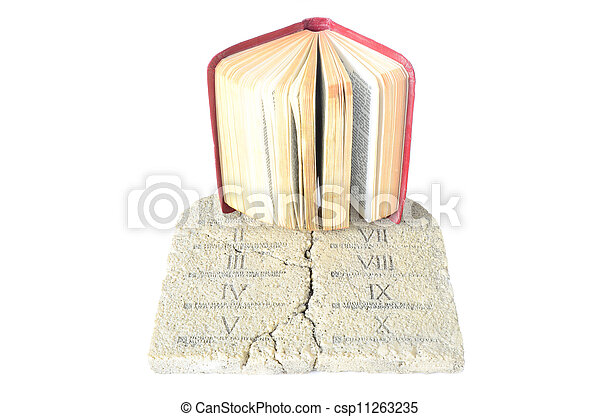 bible and tablets of law - csp11263235