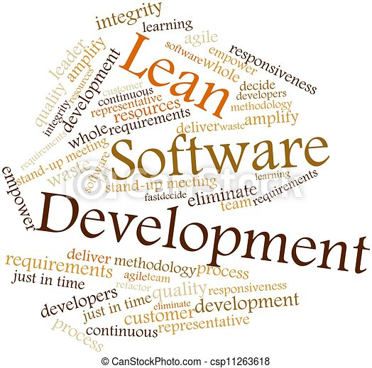 Clipart of Lean Software Development - Abstract word cloud for ...
