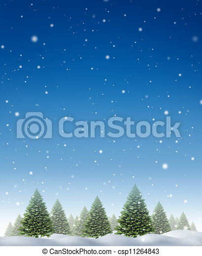 Winter Holiday Background - csp11264843