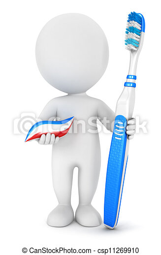 3d white people dental hygiene - csp11269910