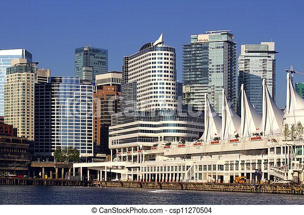 加拿大, 溫哥華, 地方, 碼頭 - csp11270504