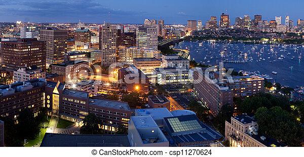 Aerial view of Cambridge and Boston - csp11270624