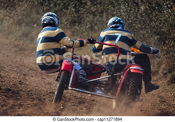 Sidecar motocross at the Goodwood Revival - csp11271894
