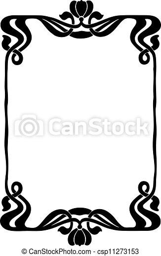 Decorative Art Nouveau Frame - csp11273153