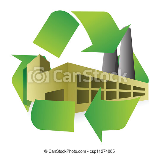 recycle factory illustration design - csp11274085