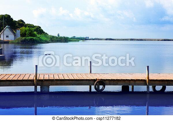 Albufera lake in Valencia El Saler - csp11277182