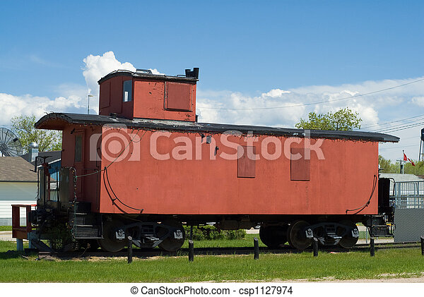 Train Caboose - csp1127974