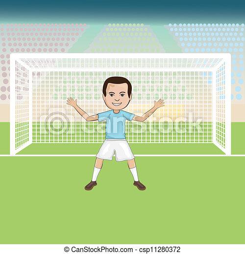 Illustrations vectoris es de soccer goalie illustration - Gardien de but dessin ...