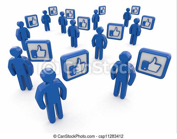 Concept of social network. - csp11283412