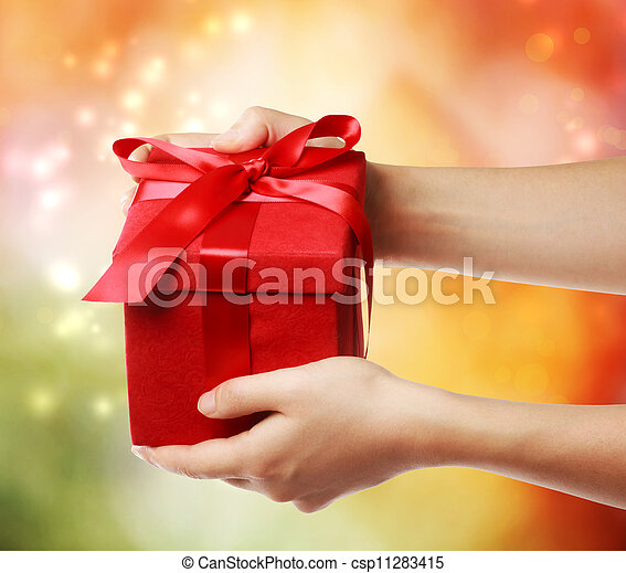 Red Holiday Gift Box - csp11283415