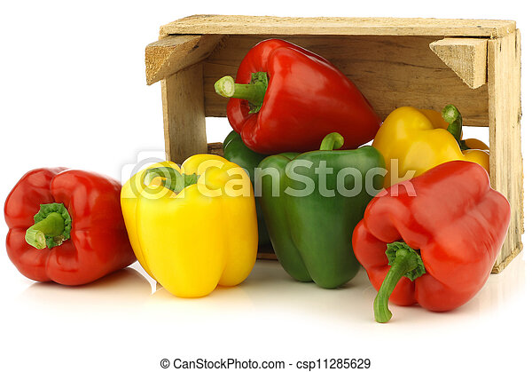 red,yellow and green bell peppers - csp11285629