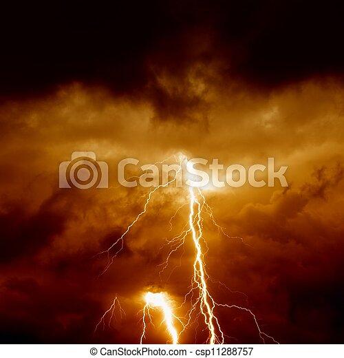 Dramatic moody sky - csp11288757